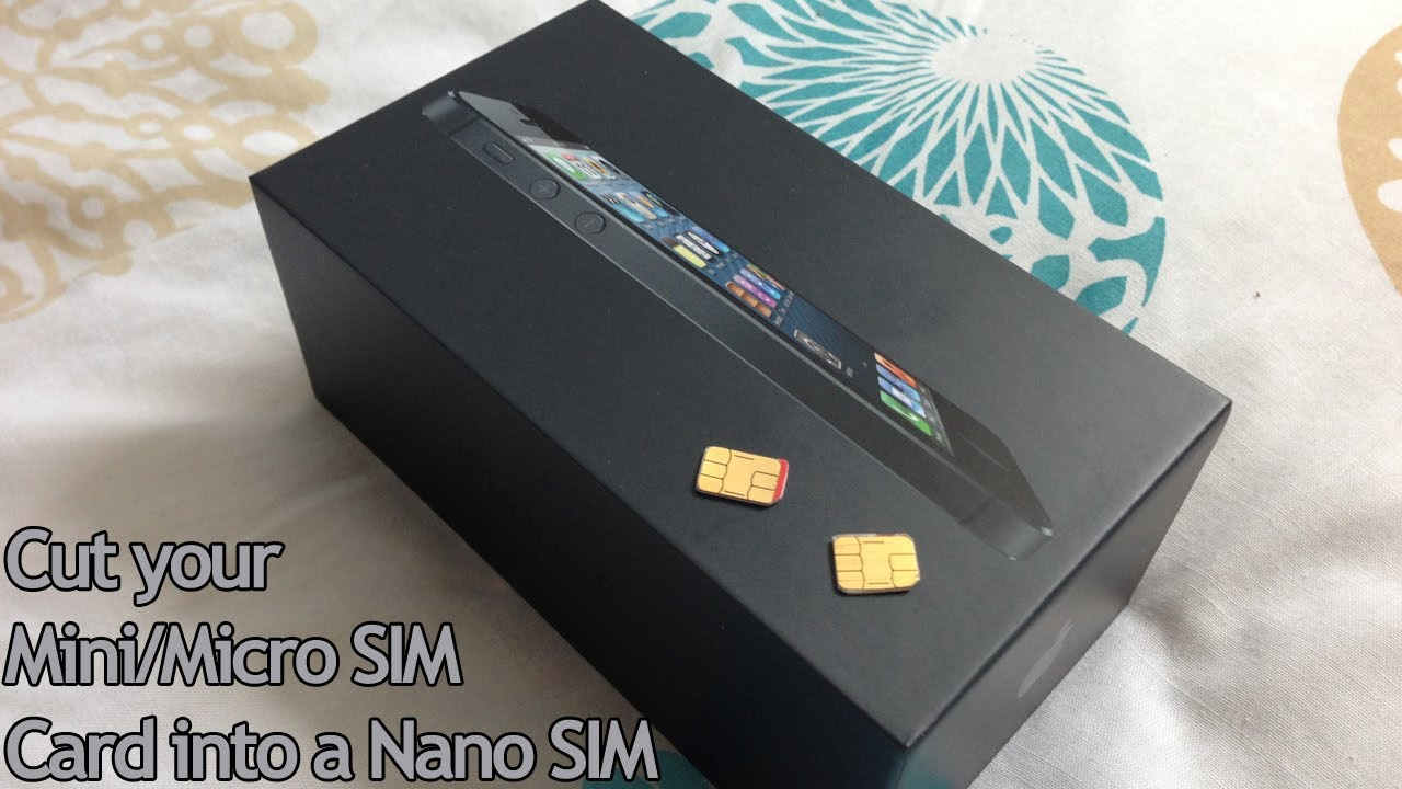 remove sim card iphone 5 cut your micro mini sim card into a nano sim for iphone 5 17957