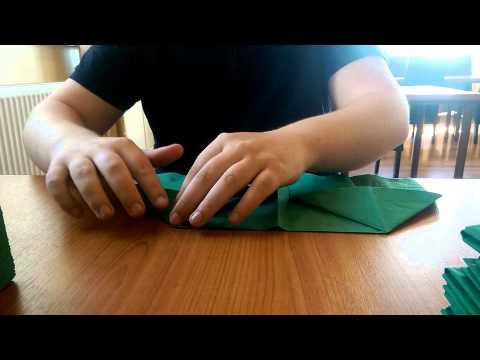 Folding a garrison cap napkin