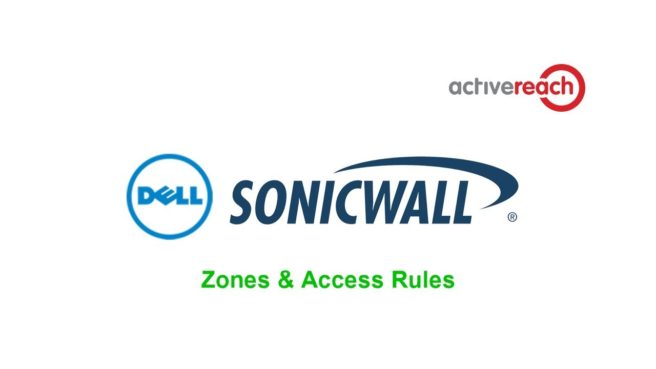 Sonicwall Zones and Access Rules
