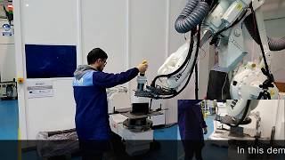 Hand guiding industrial robots