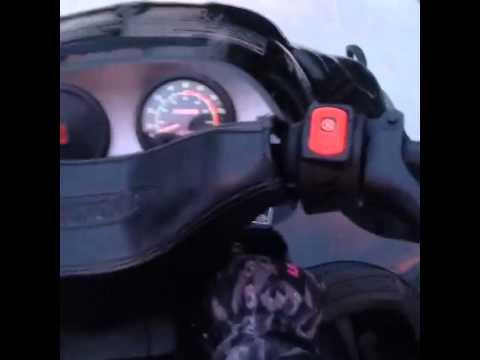 Rihanna drive Snowmobil in Aspen