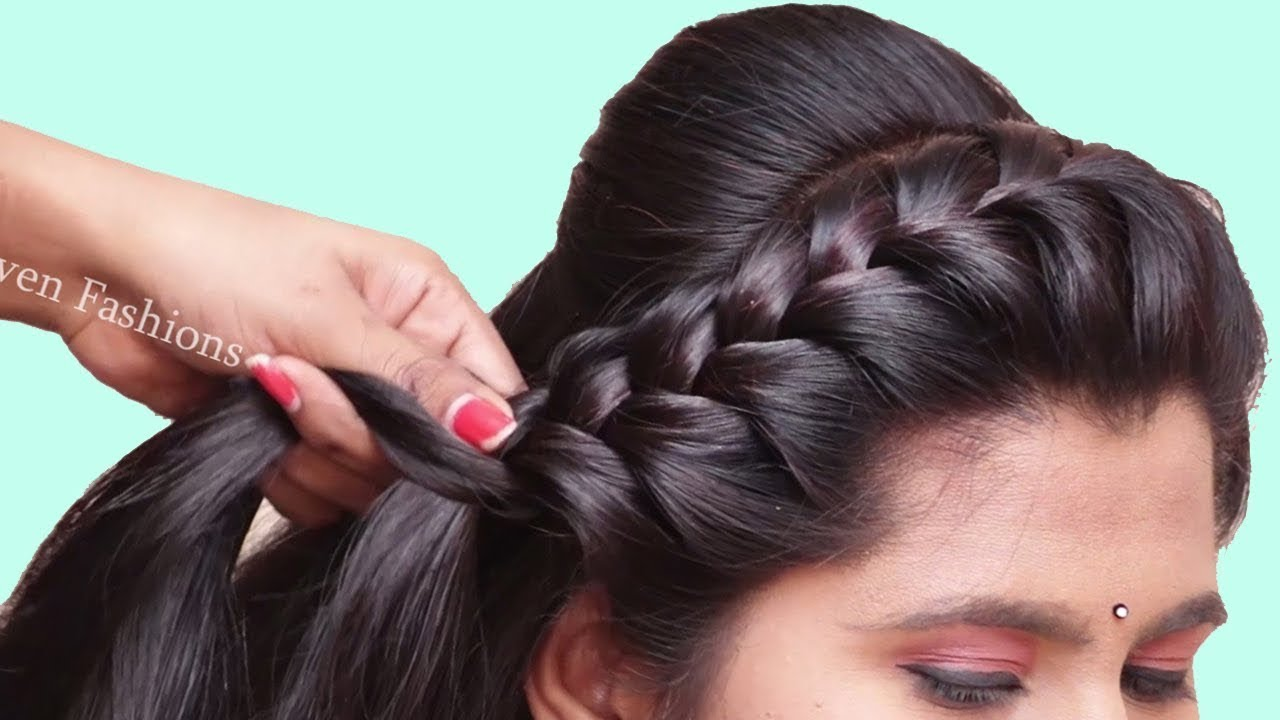 3 Different Hairstyle For Long Hair 2020 Hairstyles For Party Wedding Function Hairstyles Girl Youtube