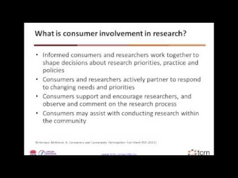 TCRN Consumer Workshop - Practical tips on Consumer Engagement