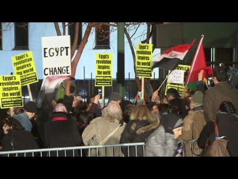 CNN: Celebrations Near Egyptian Embassy