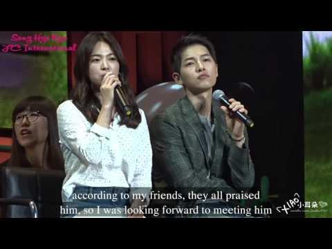 Engsub 160617 FM Chengdu Song Hye Kyo Song Joong Ki Full HD