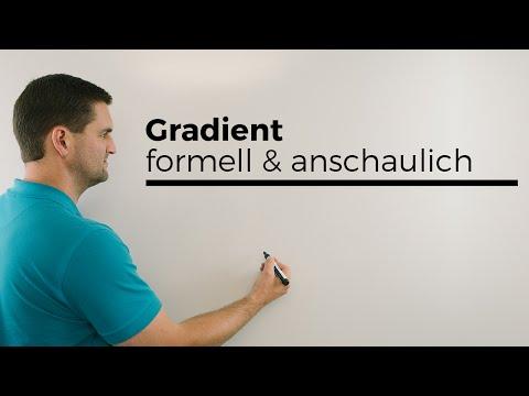 Gradient formell und anschaulich, Differentialoperator, mehrdimensionale Analysis