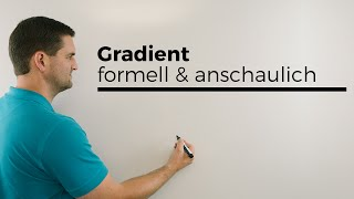 Gradient formell und anschaulich, Differentialoperator, mehrdimensionale Analysis