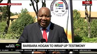 Barbara Hogan to wrap up testimony