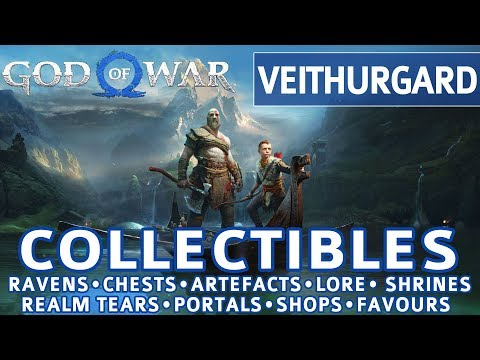 God of War - Veithurgard All Collectible Locations (Ravens, Chests, Artefacts, Shrines) - 100%