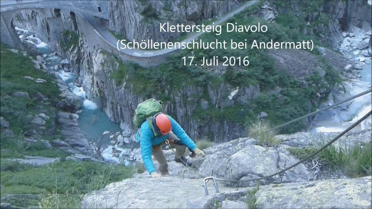 Klettersteig Rating : Diavolo klettersteig youtube