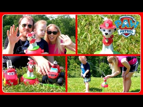 Paw Patrol Water Sprinkler Paw Patrol Marshall with Blaze And The Monster Machines & Disney Cars