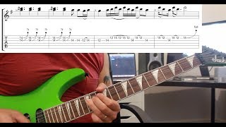 How to play 'Battery' by Metallica Guitar Solo Lesson w/tabs