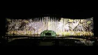 Video Mapping in Arabic Wedding at Madinat Jumeirah Arena Ballroom by Olivier Dolz Wedding Planner