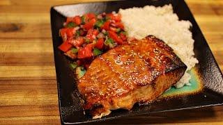 Teriyaki Salmon and Salad Recipe - healthy recipe channel - healthy salmon recipes - dinner recipes