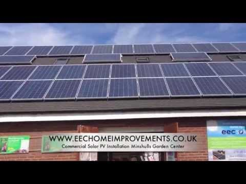 EEC Home Improvements commercial Solar PV Installation Minshulls Garden Center
