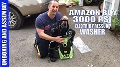 3000 PSI Amazon Pressure Washer Unboxing And Assembly