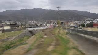 坂城~テクノさかき駅、しなの鉄道線、進行方向左側車窓から