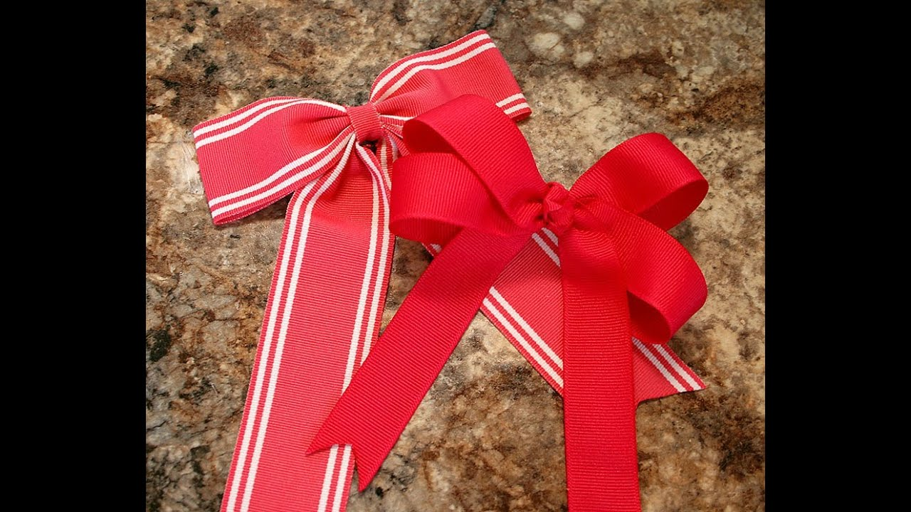 make hairbow with tails