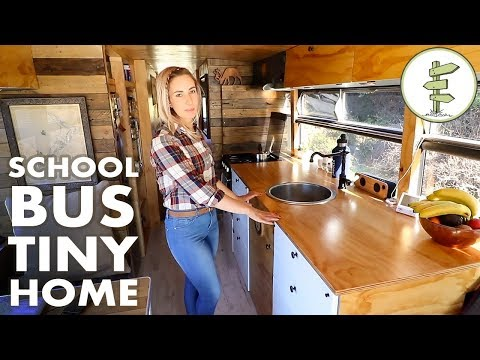 Family Quits the 9 to 5 to Live & Travel in an Off Grid School Bus Conversion