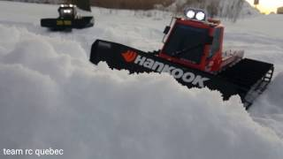Kyosho blizzard fr and sr running in snow
