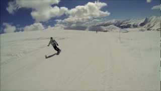 сноуборд прыжок хорошее начало смешной конец\ зацените кто разбирается