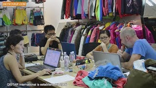 Qistar china swim board shorts beachwear factory video