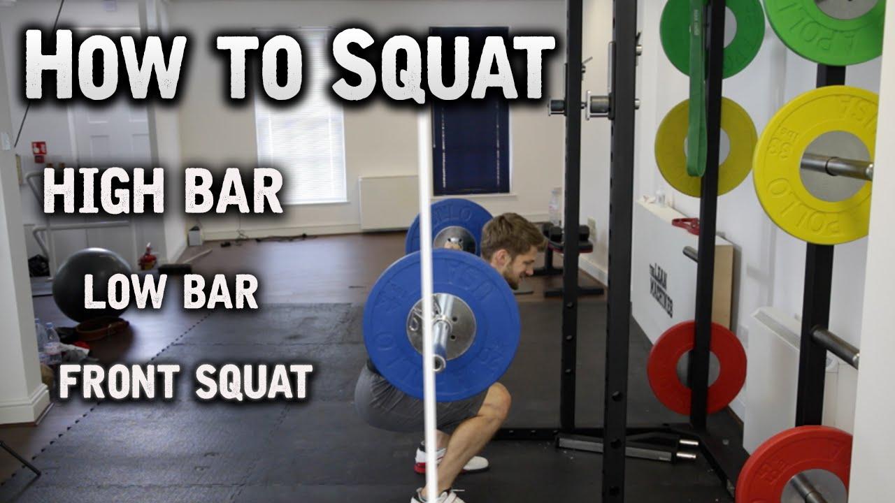1f0b068338a1fe How to Squat - High Bar