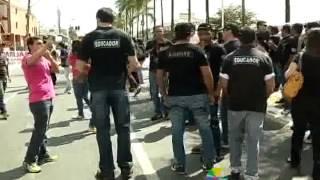 Agentes socioeducativos fazem protesto cobrando melhorias para categoria