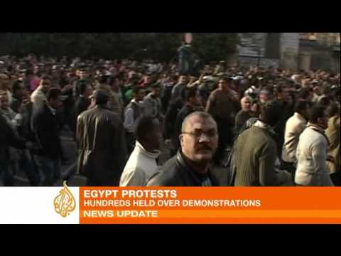 Hundreds held in Egypt protests