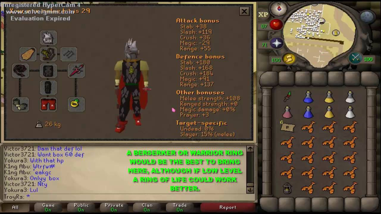 Cave Horror Slayer Guide [Gear+ Getting there+ Best spots] OSRS 2007 -  YouTube