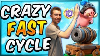 INSANE FAST CYCLE! Royal Hogs Cycle Deck — Clash Royale