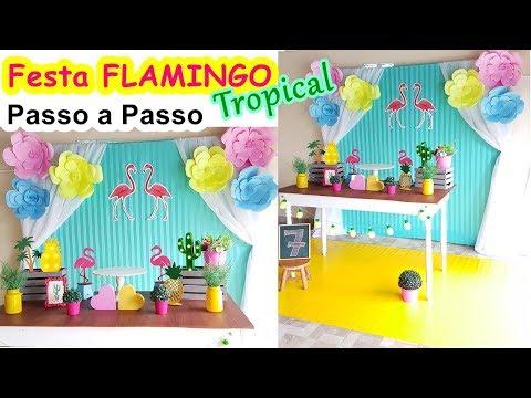 Passo a Passo Decoração de Festa Flamingo