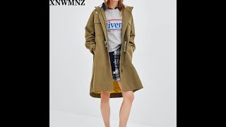 Za зима осень европейский стиль женская верхняя одежда женский плащ свободный пояс х длинная
