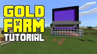 Gold Farm Tutorial - Minecraft PE / Bedrock Edition