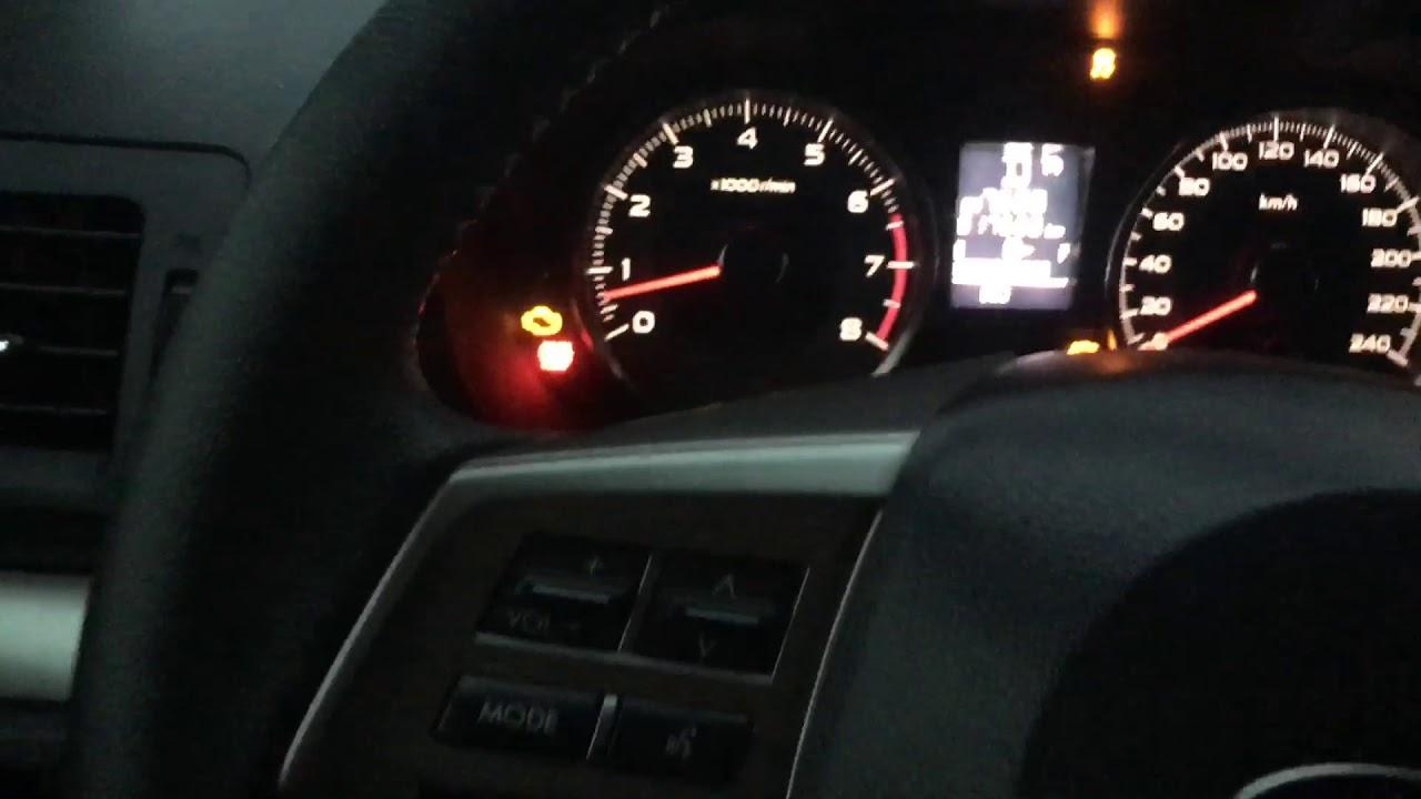 AT OIL TEMP warning light (AT and CVT models)