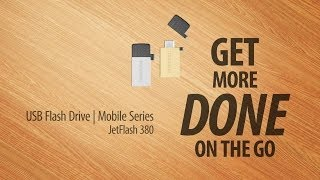 transcend usb otg flash drive jetflash 380 get more done on the go