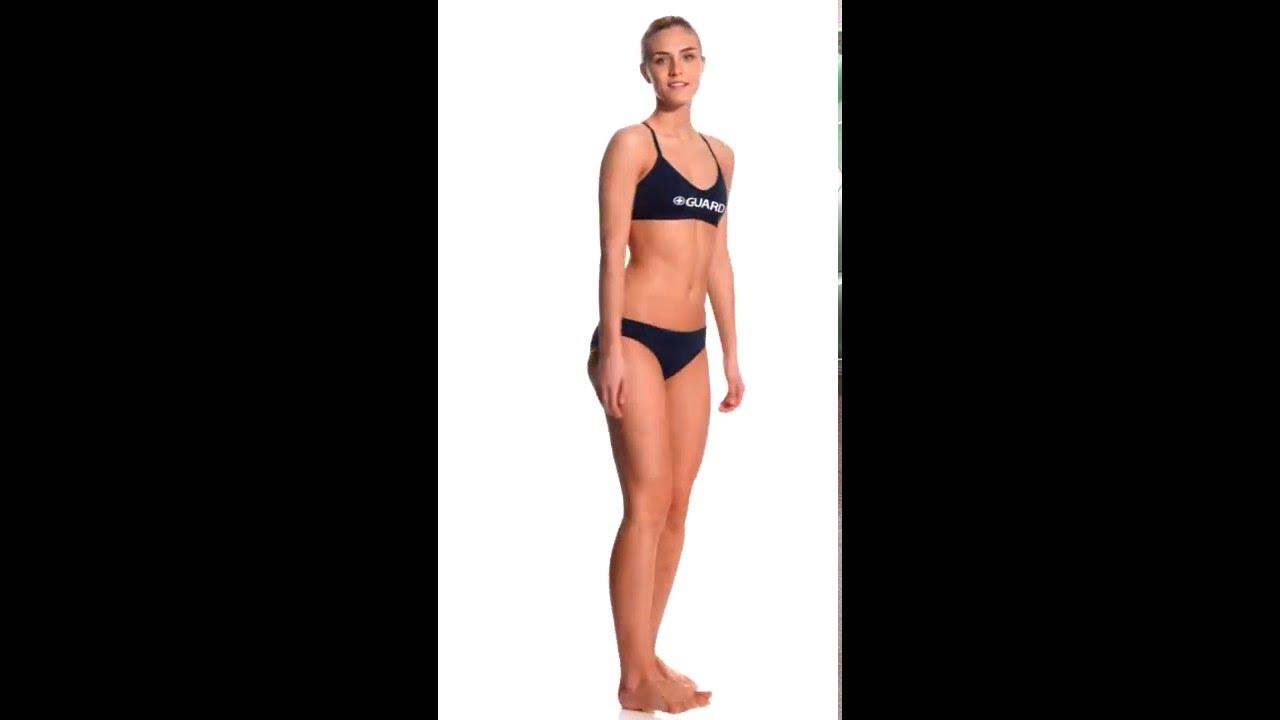 c7572ddad9 Waterpro Lifeguard Cross Back Two Piece Swimsuit Set   SwimOutlet.com