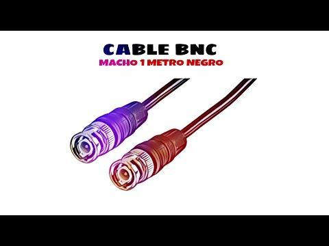 Video de Cable BNC macho RG 59 1 M Negro