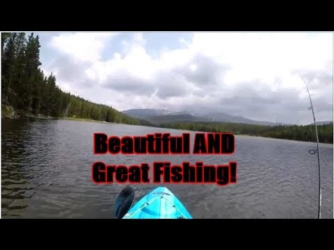 Trout Fishing West Tensleep Lake, Fly And Bubble For The WIN!!!  Great Day On The Kayak!