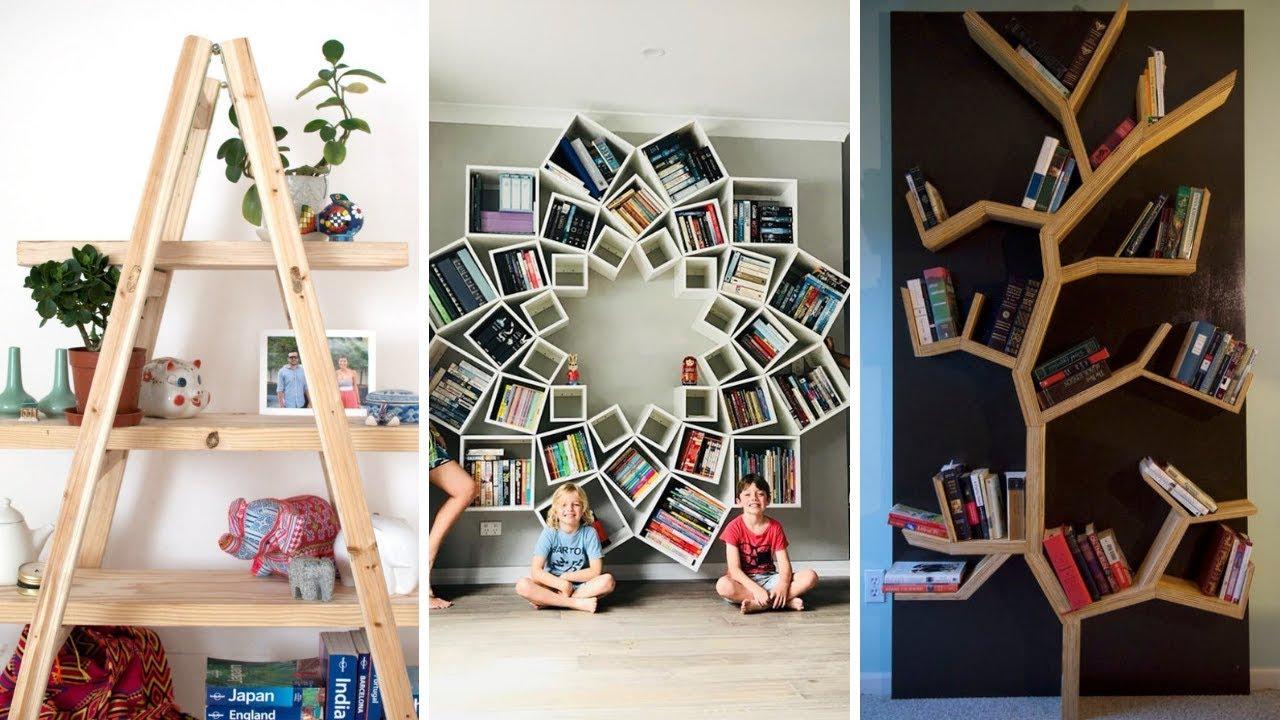 20 DIY Bookshelf Organization Ideas