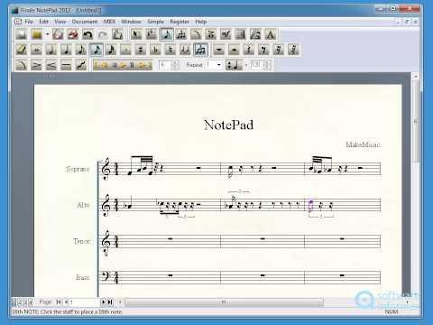 Finale NotePad demonstration