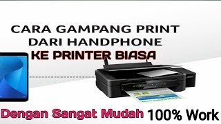 Cara Print Foto dan Dokumen dari Android ke Printer Biasa - How to Print Without Bluetooth Printer