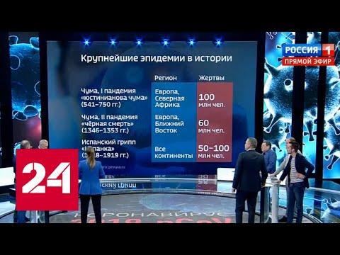 Коронавирус из Китая добрался до России? 60 минут от 24.01.20
