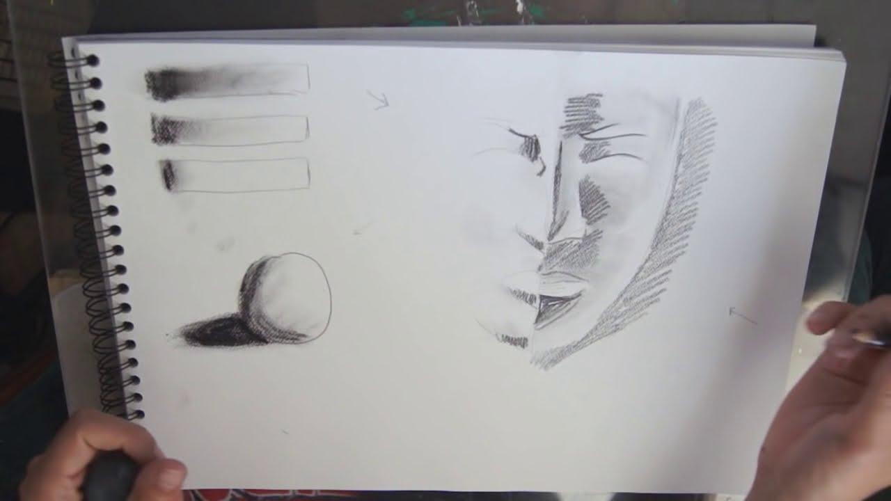 dessin ombre et lumière visage
