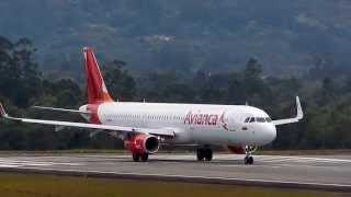 Avianca Airbus A321 take off MDE oct 12 2014