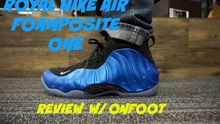 Nike Air Foamposite One Fighter JetReview + On Feet ...