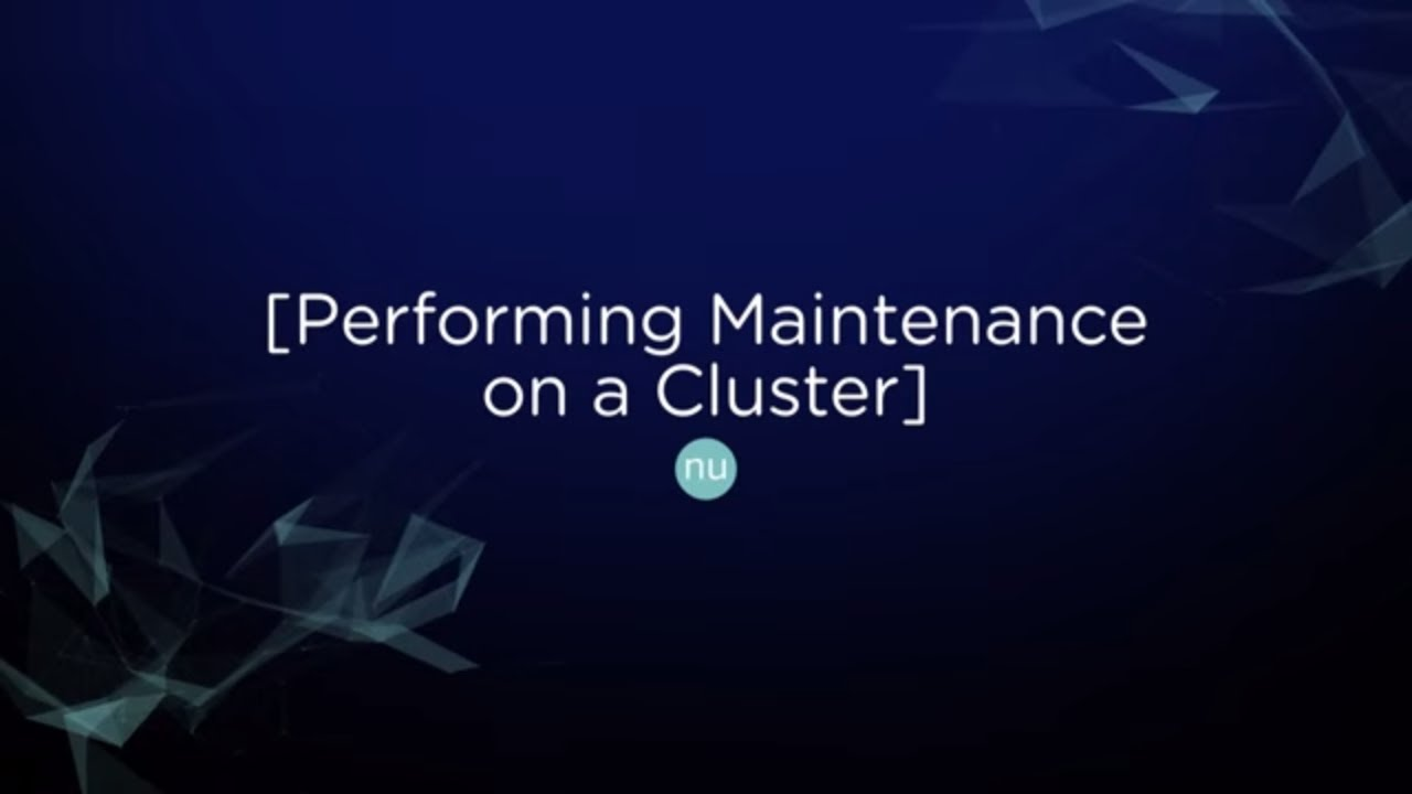 Tech TopX: Performing Maintenance on a Cluster