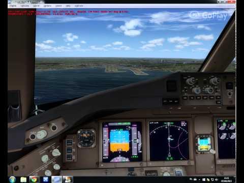 Virgin Australia PMDG 777 visual at Fly Tampa Sydney