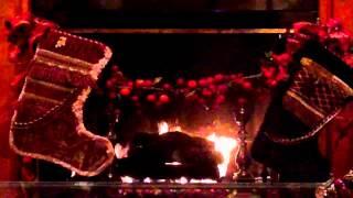 Christmas Eve Wood Burning Fireplace - Yule Log Video