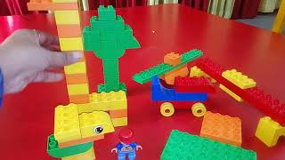 Living and non living things with duplo blocks